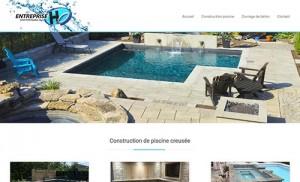 Construction de piscine creusée Entreprise H2O