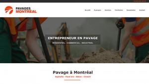 Pavage d'asphalte à Montréal